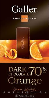 Dark Chocolate Orange Squares 70% Cocoa 13LB Bulk