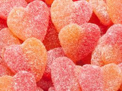 Sour Peach Hearts 5LB Bulk