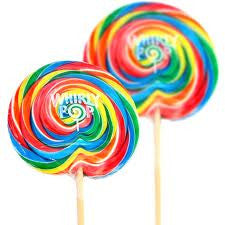 "Whirly Pops, Rainbow 3"" 1.5 Ozlolly pops Adams&Brooks 60 Count"
