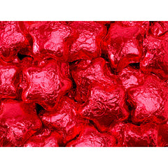 Red Chocolate Stars 5LB Bulk