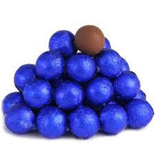 Royal Blue Chocolate Foil Balls 10LB Bulk