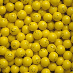 "Yellow Smiley Face Gumballs 1"" 850 Count Bulk"