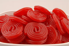 Red Strawberry Licorice Wheels 5LB