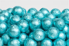 Tiffany Blue Chocolate Foil Balls 10LB Bulk