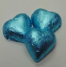 Tiffany Blue Chocolate Foil Hearts 10LB Bulk