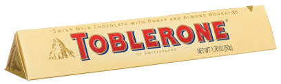 Toblerone Chocolate Bar 1.7oz 20 Count
