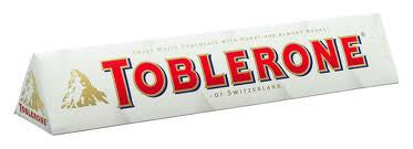 Toblerone White Chocolate Bar 3.5oz 12 Count