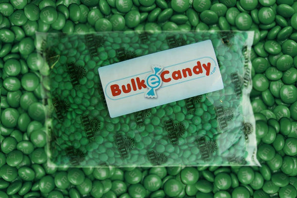 Bulk Dark Green M&M's 10lbs mandms ColorWorks m&ms