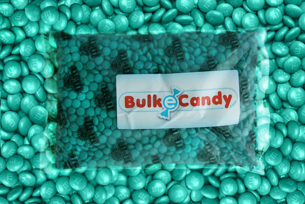 Bulk Teal Green M&M's 10lbs mandms ColorWorks mymms