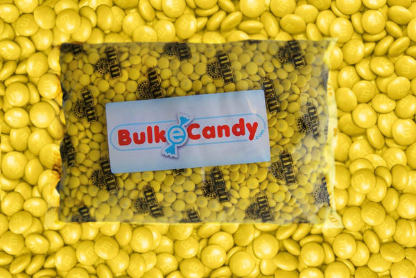 Bulk Yellow M&M's 5lbs mandms ColorWorks mymms