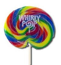 "Whirly Pops, Rainbow 4"" 3 Oz 48 Count"