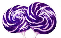 "Whirly Pops Purple / White 3"" 1.5 Oz 60 Count"
