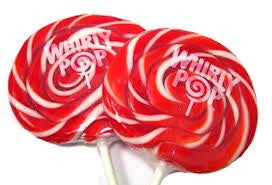 "Whirly Pops Red / White 3"" 1.5 Oz 60 Count"