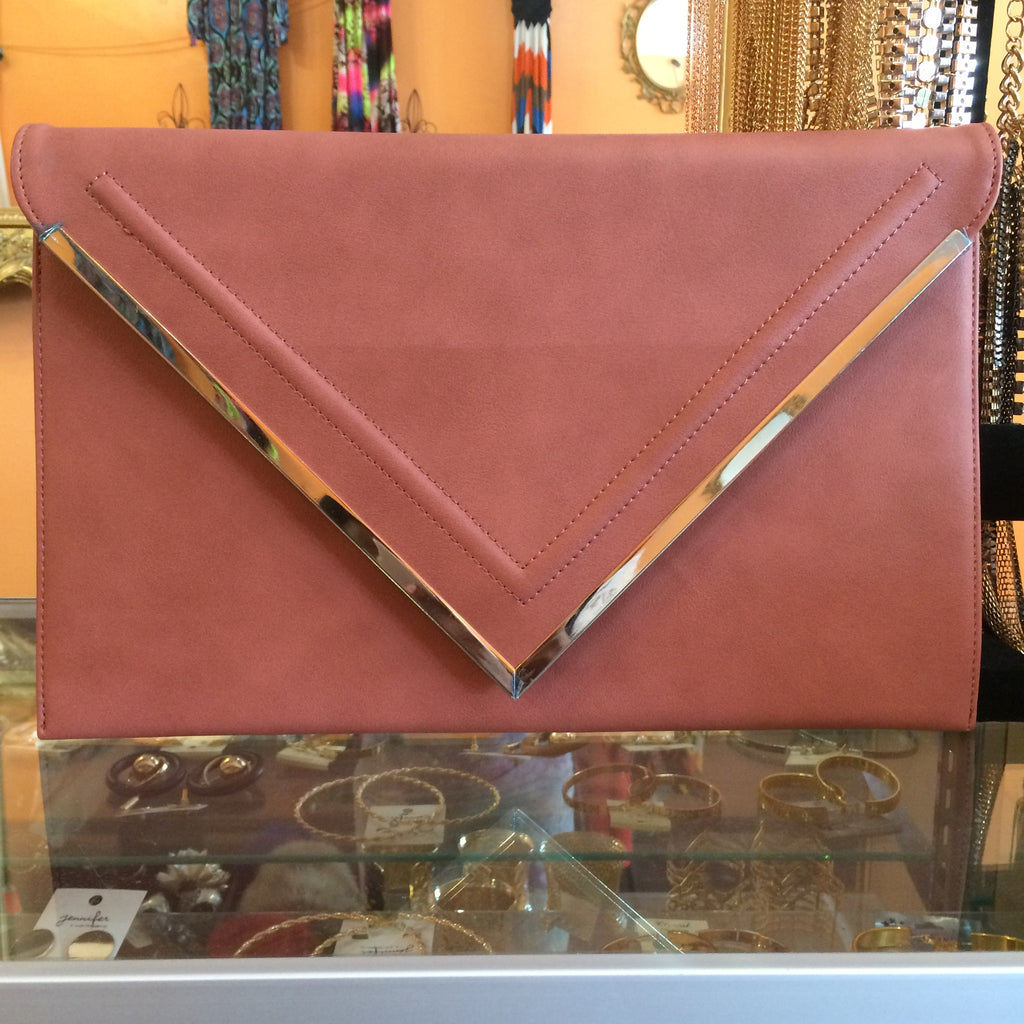 Mauve Envelope Clutch