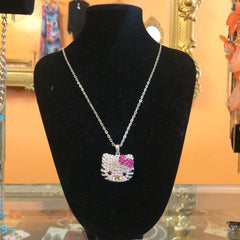 Hello Kitty Bow Rhinestone Necklace - Diva Boutiques