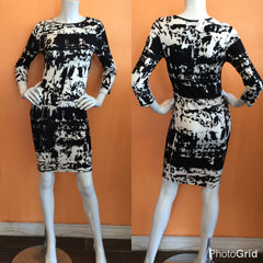 Black and White  Bodycon Dress - Diva Boutiques