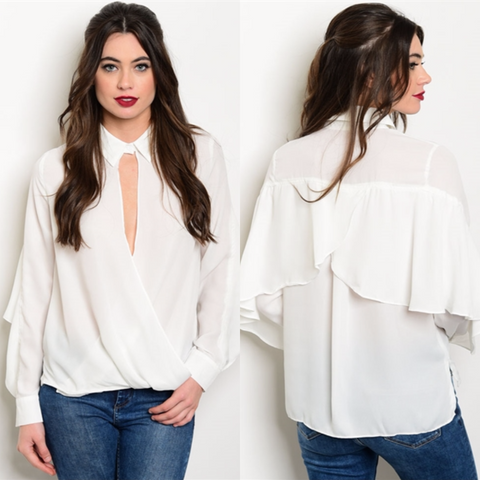 Off White Key Hole Top - Diva Boutiques