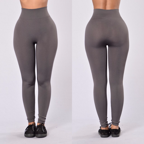 Charcoal Gray Fleece Leggings
