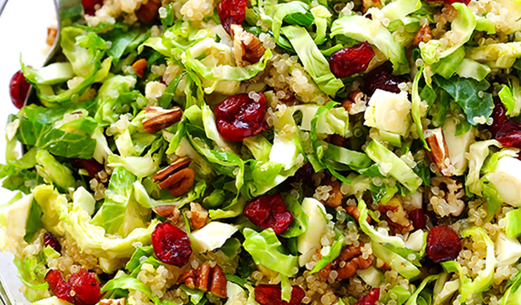 Brussel Sprout Quinoa Salad