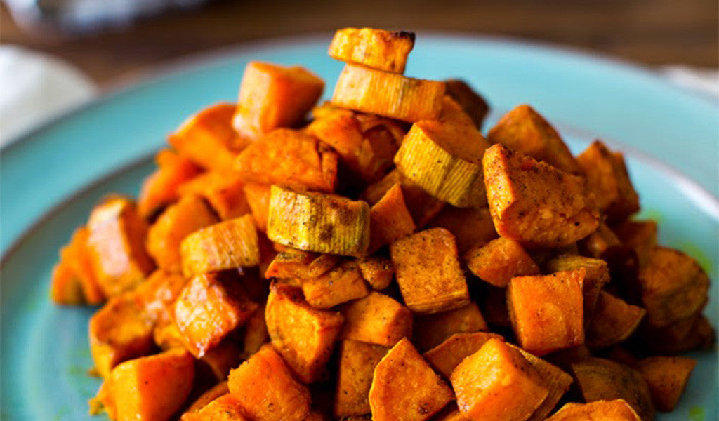 Roasted Sweet Potatoes with Coconut Oil