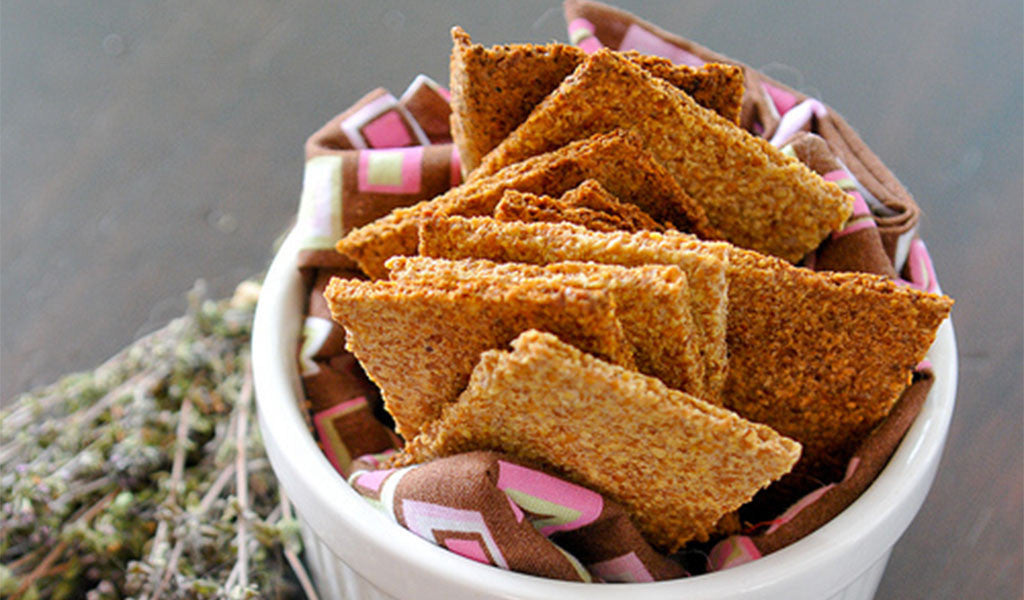 Flax Crackers - Garlic and Onion Flavored