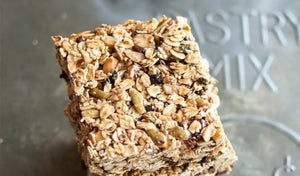 Hazelnut-Cacao Granola Bars with Dried Figs