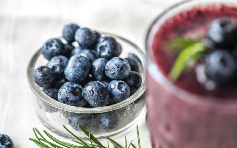 Blueberries Punch! A smoothie that you will surely like