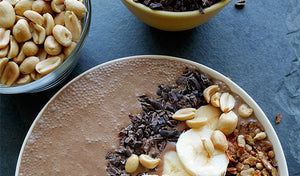 Chocolaty Peanut Butter and Banana Smoothie Bowl