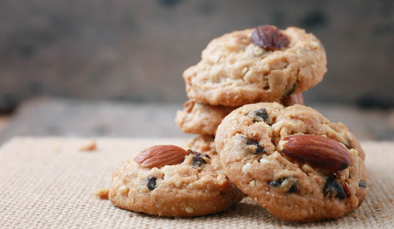 Crunchy Almond Cacao Nibs Cookies