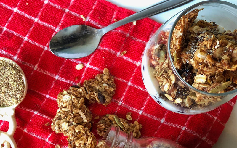 Honey-Flax Granola Clusters