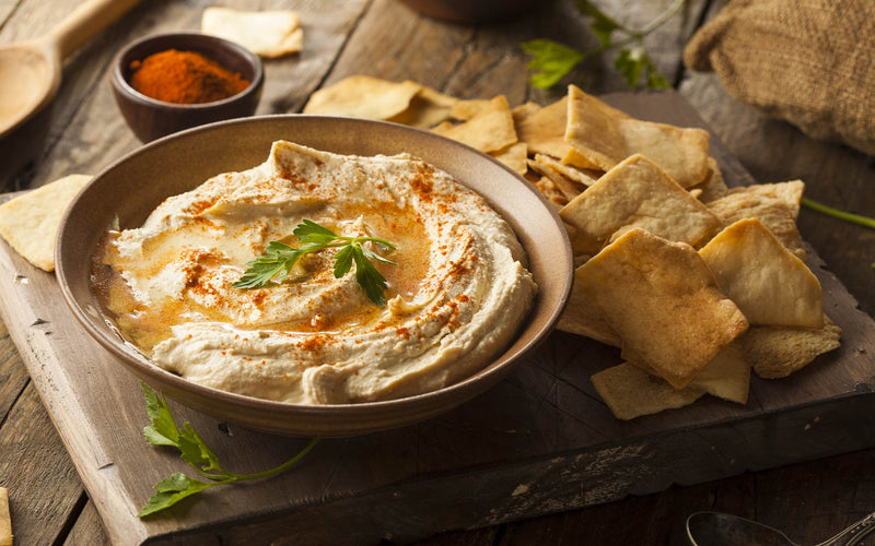 Sweet & Smoky Flaxseed Hummus