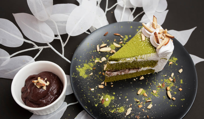 For Matcha Lover-Vegan Matcha Lemon Cake