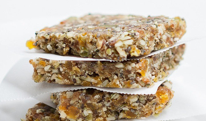 Raw Apricot Chia Energy Bars