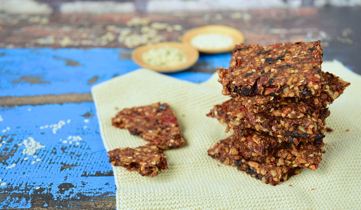 Keto Low-Carb Five Seed Crackers