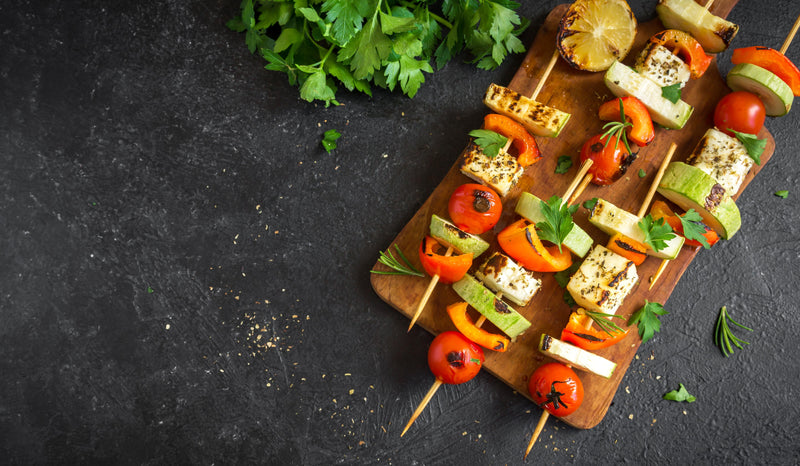 Pack For The Fall Picnic-- Homemade Grilled Veggie Skewers Recipe