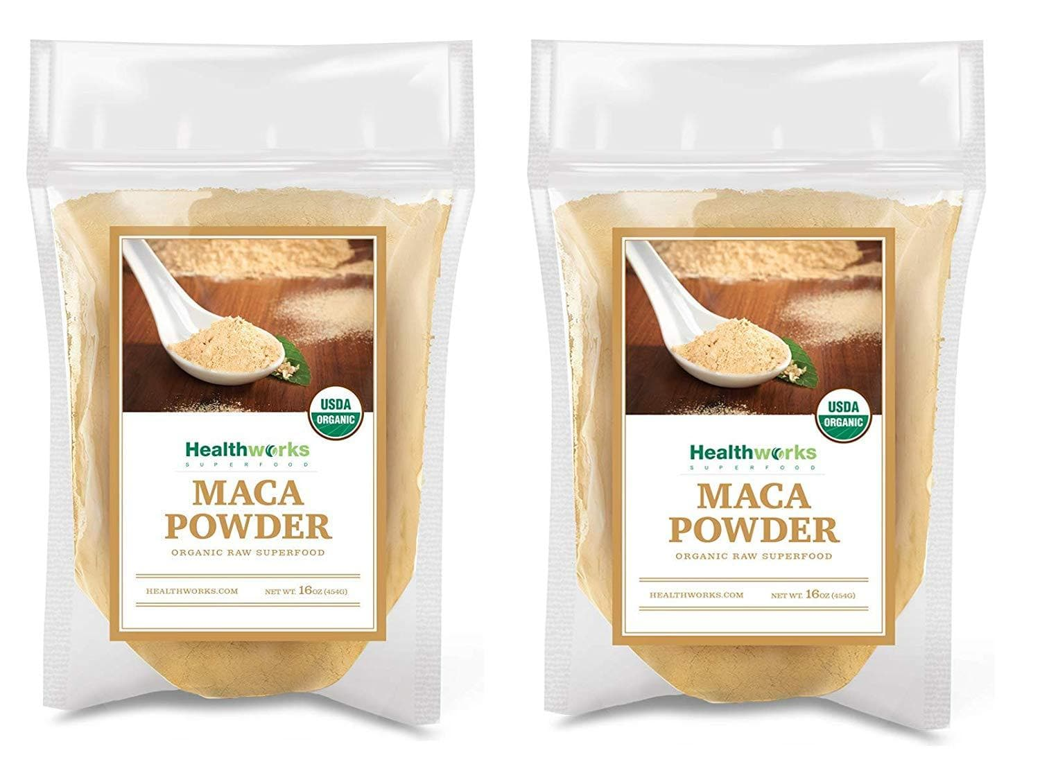 Healthworks Maca Powder Raw Organic, 2lb (2 1lb bag) - Healthworks Superfood Organic