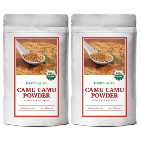 Camu Camu Powder- USDA Organic, 4oz Two Pack - Healthworks Superfood Organic