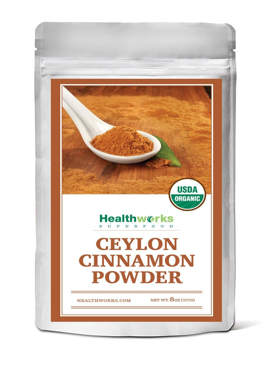 Healthworks Ceylon Cinnamon Powder Raw Organic, 8oz - Healthworks Superfood Organic