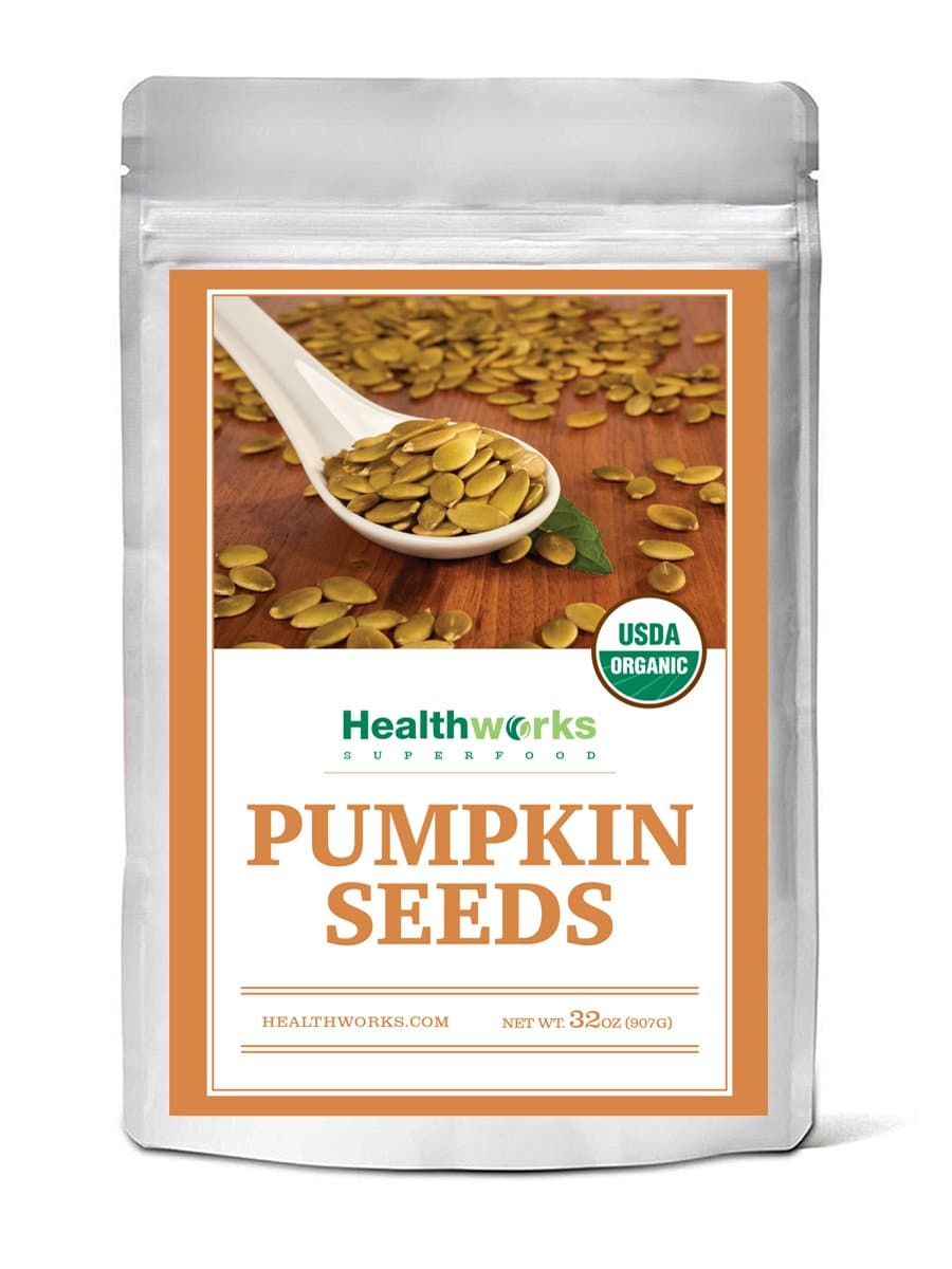 Healthworks Pumpkin Seeds Shelled Organic, 2lb - Healthworks Superfood Organic
