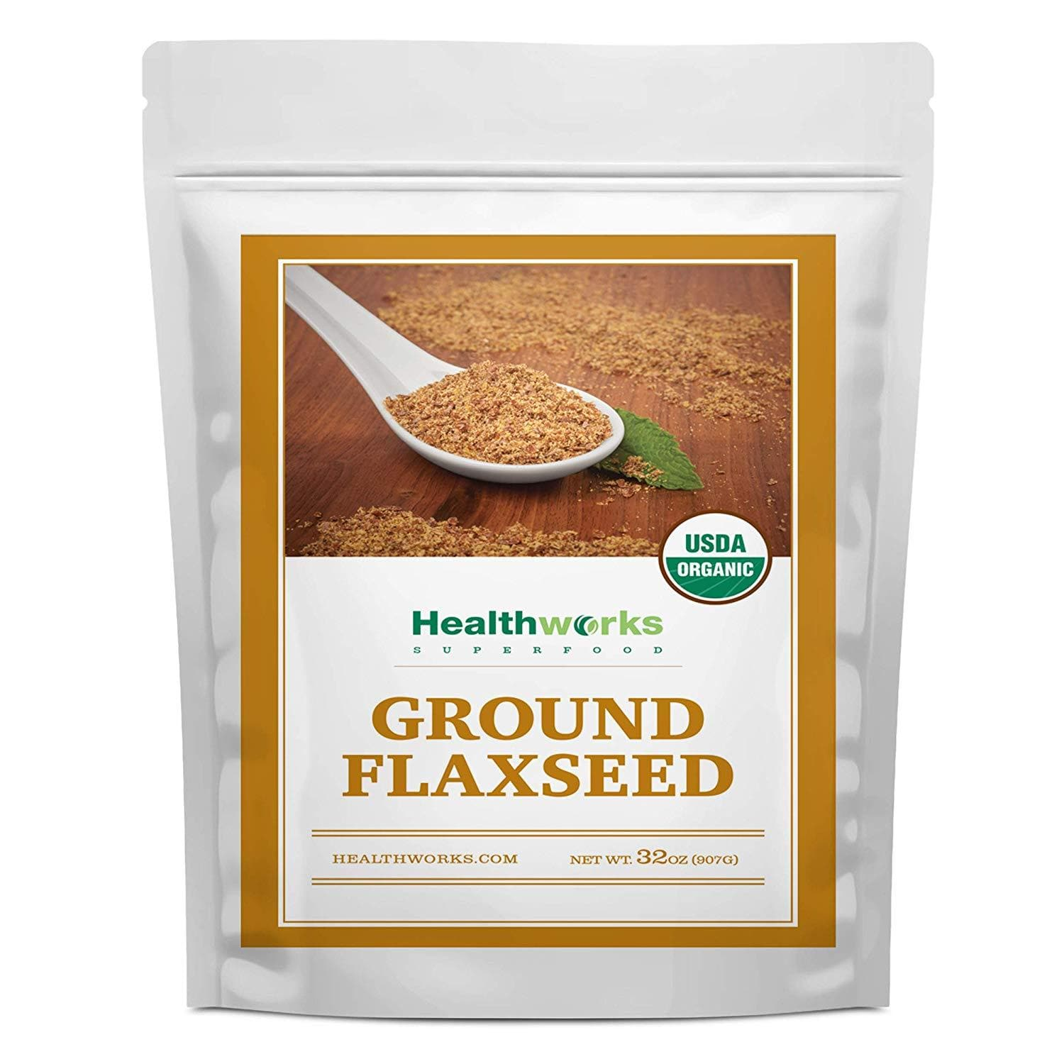 Healthworks Ground Flaxseed Organic Cold-Milled, 2lb - Healthworks Superfood Organic