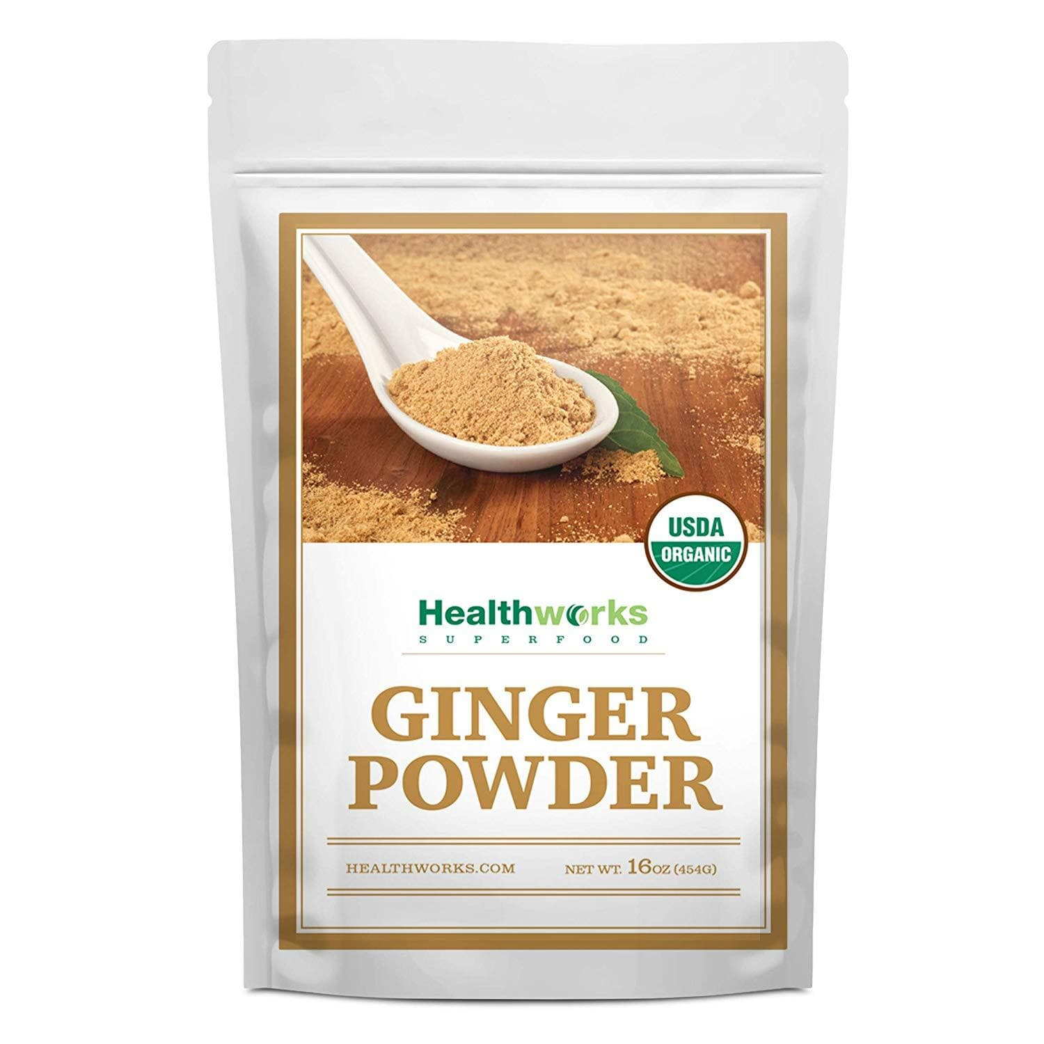 Healthworks Ginger Powder Raw Organic, 1lb - Healthworks Superfood Organic