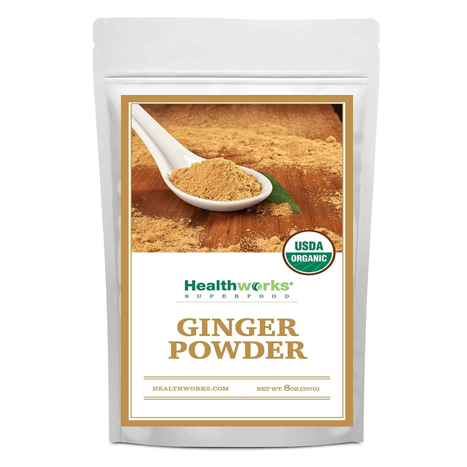 Healthworks Ginger Powder Raw Organic, 8oz - Healthworks Superfood Organic