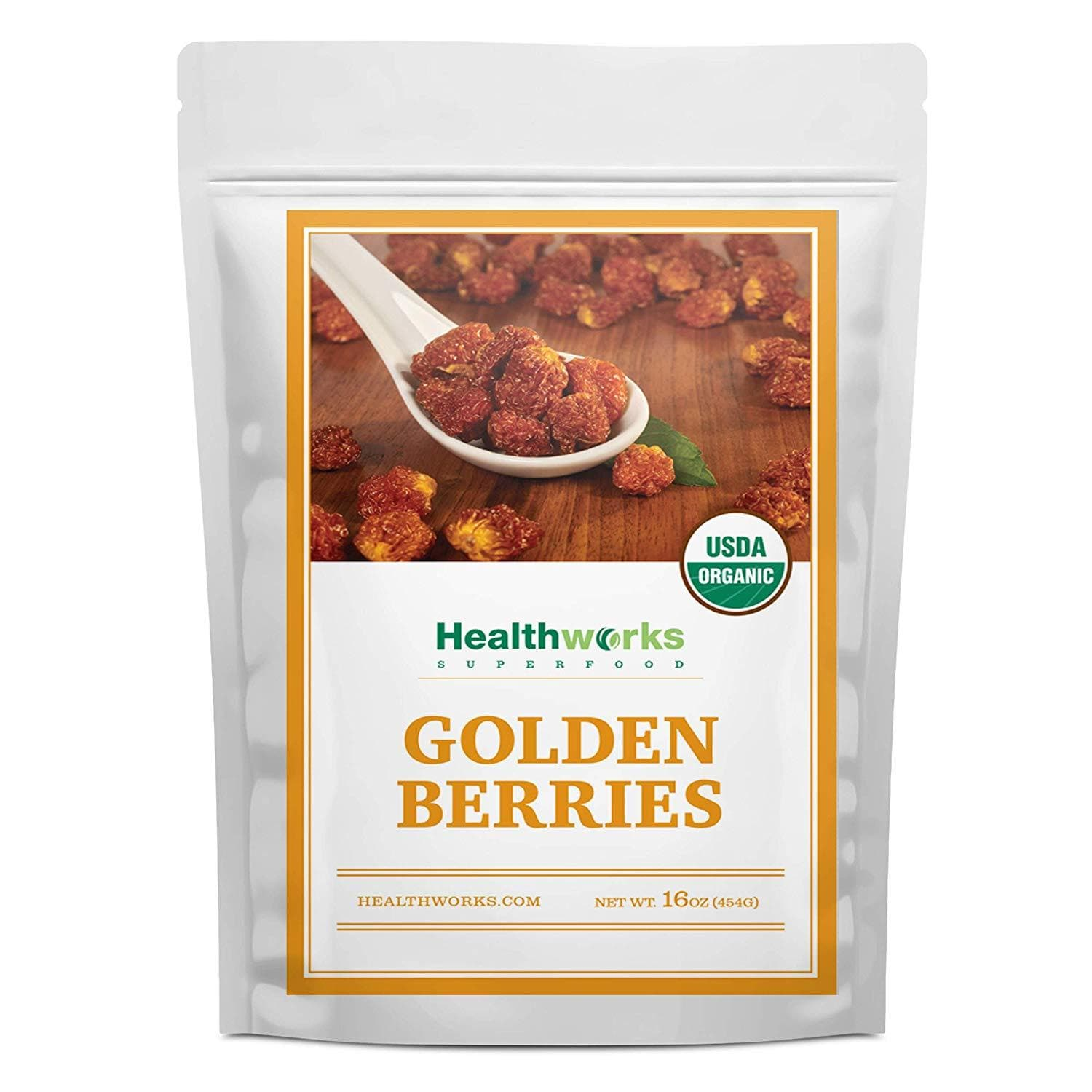 Healthworks Organic Golden Berries 1lb - Raw, Sun-Dried and All-Natural - Healthworks Superfood Organic