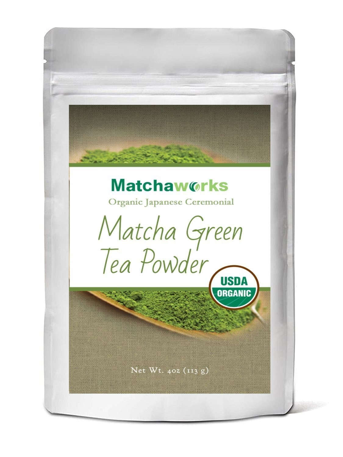 Matchaworks Matcha Green Tea Powder Organic, Japanese Ceremonial Grade, 4oz - Healthworks Superfood Organic