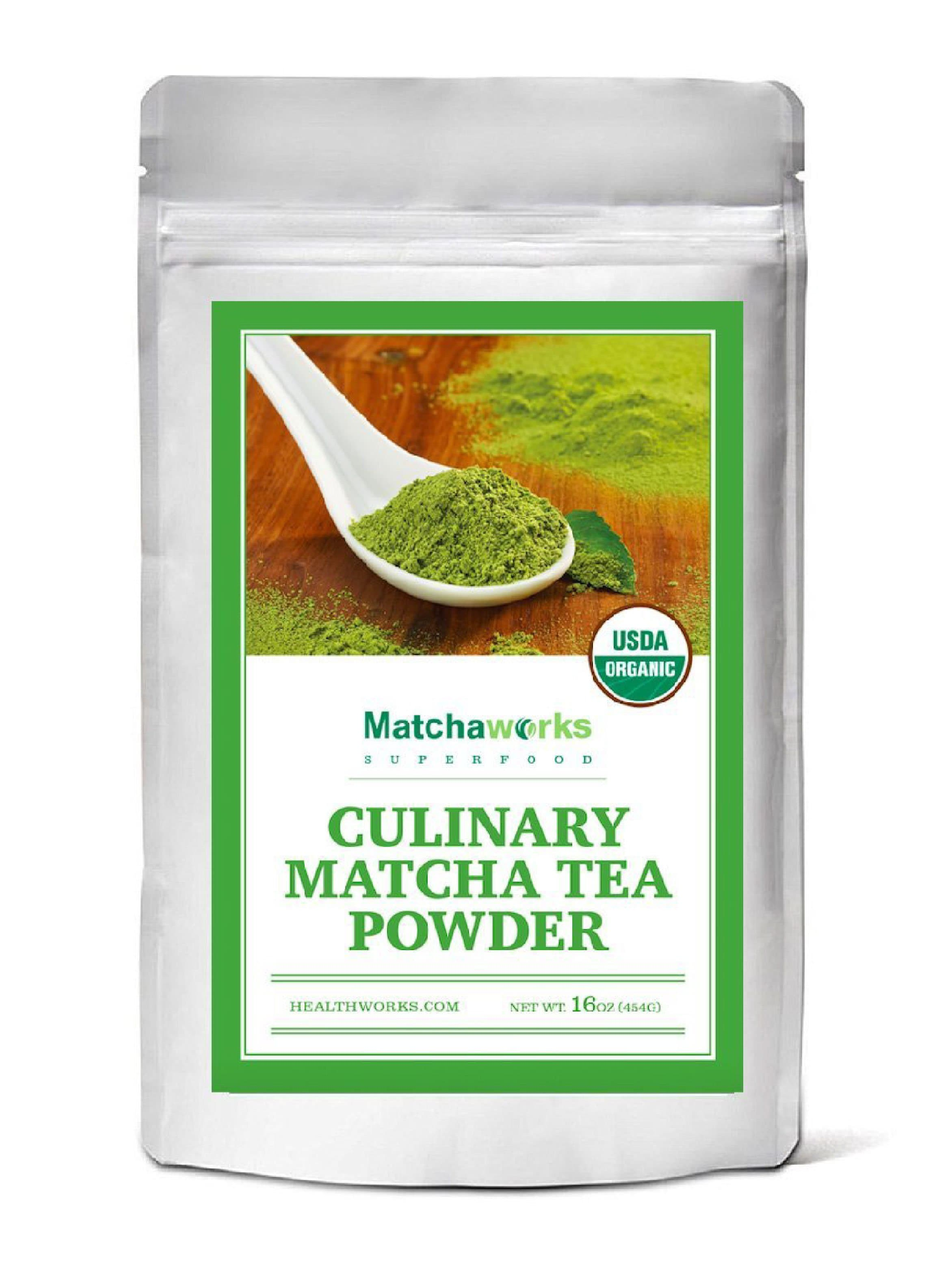 Matchaworks Matcha Green Tea Powder Organic, Culinary Grade, 16oz - Healthworks Superfood Organic