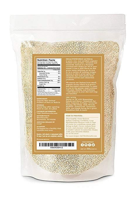 Healthworks Quinoa White Whole Grain Raw Organic, 4lb - Healthworks Superfood Organic
