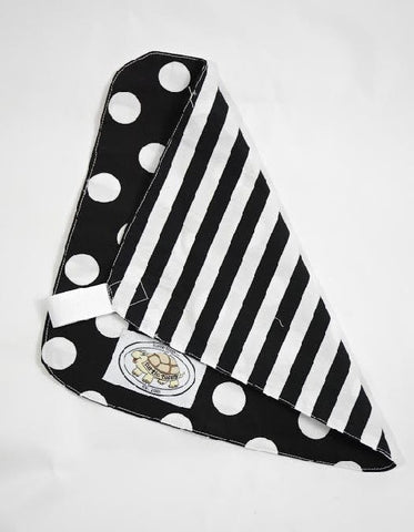 Black and White Polka Dot Print Binky Blanket