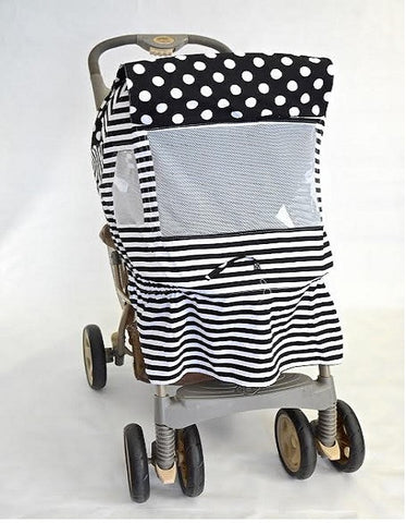 Black and White Polka Dot Print Stroller Cover