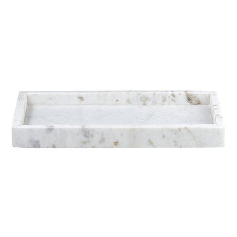 Rectangle Marble Tray - White