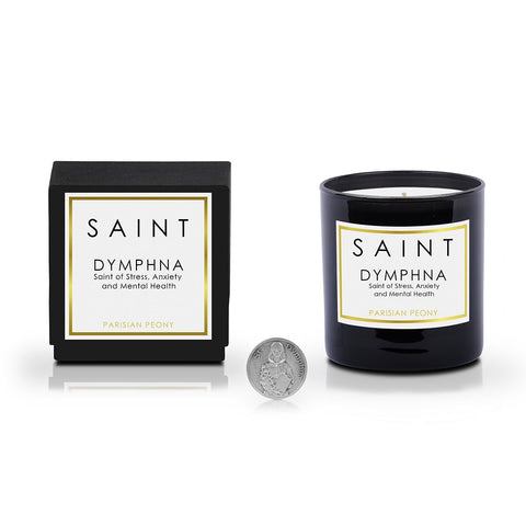 SAINT Candle • Dymphna, Saint of Stress, Anxiety and Mental Health